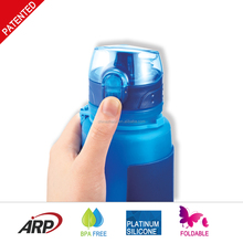 Hot Selling One Touch 500ml 16oz silicone drink bottle