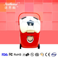 low price outdoor fridge mini portable car refrigerator with wheels