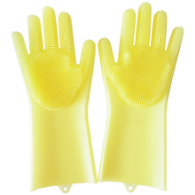 2019 New Upgraded Heat Resistant Silicone Magic Gloves/ Silicone Brush glove