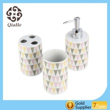 Shopping Bathroom Accessories with Decal Ceramic Bathroom Set in Bathroom Sets