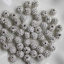Wholesale 10mm Mixed Color Shamballa Beads Polymer Clay Material