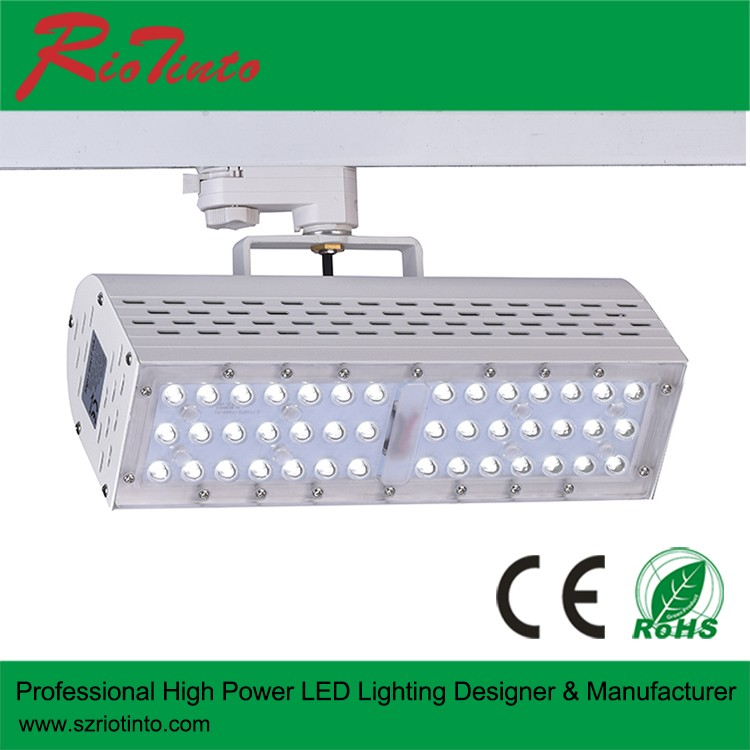 dimmable led light track 3 phase 3000K CRI 90 spotlight R9>90 50W LED track light