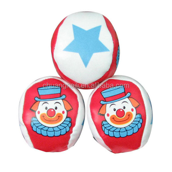Promotional kick juggling hacky sack ball