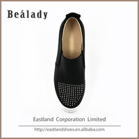 OEM/ODM soft thick high heel 4.5cm rubber sole plastic slip on women shoes