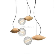 Incandescent Pendant Light Fixture Interior Ceiling Light Fixture Wood Pendant Lamp