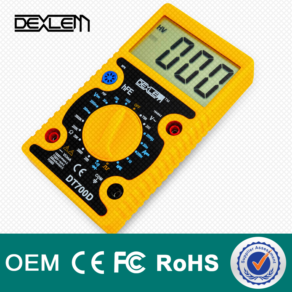 DELE DT700D LCD Digital Types Of Low Price Multimeter Brands with Specifications