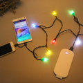 Colorful led christmas string light usb cable line