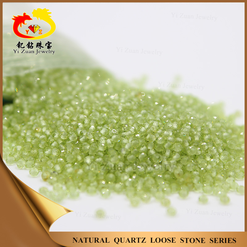 wholesale 1.5 mm beads facet cut natural peridot loose gemstones