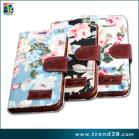 Print Floral Flip Wallet Leather Case For Samsung Galaxy S5 i9600