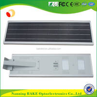 hot sell ip65 outdoor waterproof PIR sensor all in one 50w 12v all in one solar street light lead acid