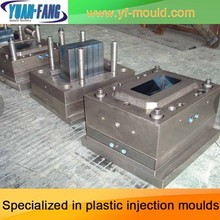 high quality good design red knock-down plastic dustbin injection mould