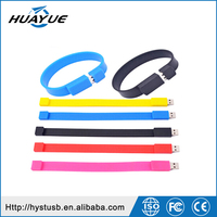 Free sample products silicone usb bracelet cheapest silicone bracelets memory stick 1gb to 64gb full color