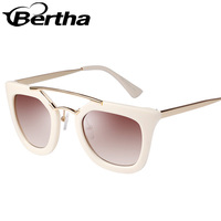 Double Beam Retro Wholesale Vintage Sunglasses K809 White