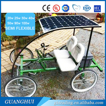 2016 factory hottest selling flexible solar panel for golf cart