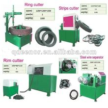 Tyre Ring / Strip / Block Cutter For Tire Recycling Plant