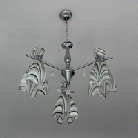 Home decorative glass chandelier light , indoor pendant lamp MD-5115-3