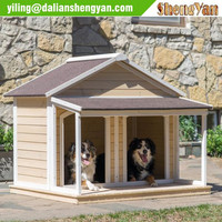Outdoor Dog House Wood Huts Pet Kennel