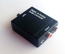 Digital Optical Coaxial to Analog RCA R/L Audio Converter with 3.5 mm Jack