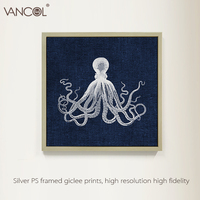 2015 Home decor modern canvas animal oil painting,octopus painting canvas