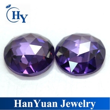 Good quality round shape faceted flat back rose cut cubic zirconia