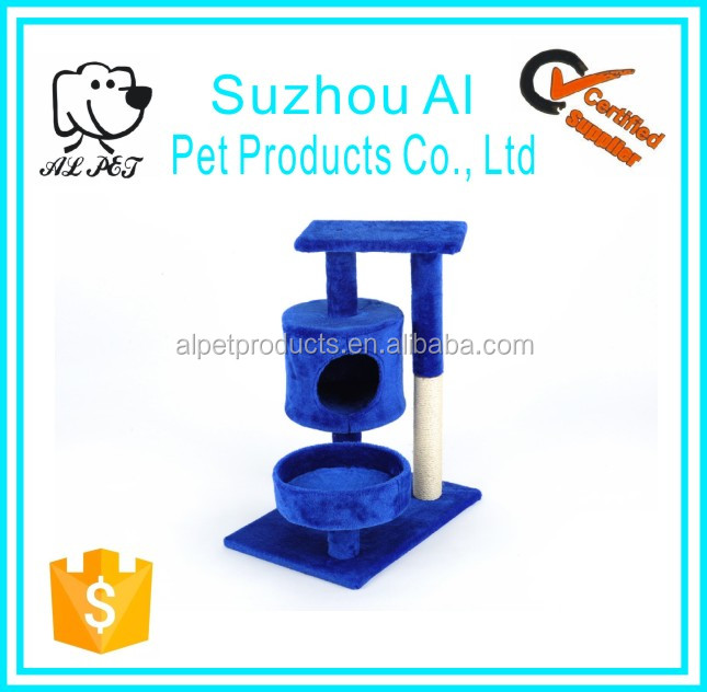 Hot Selling Pet Toy Furniture Soft Coral Cat Tree House With Cat Crate