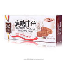 Hao Chi Dian 210g Caramel Cookies Coffee Flavor diet biscuit with caramel