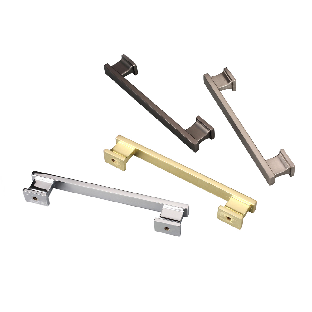 Fine workmanship zinc alloy chrome door <strong>handle</strong>,kitchen cabinet square <strong>handle</strong> 2891