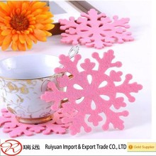 Laser Cutting Felt Cup Mats, Felt Mug Mats, Felt Coasters for Christmas Decoration