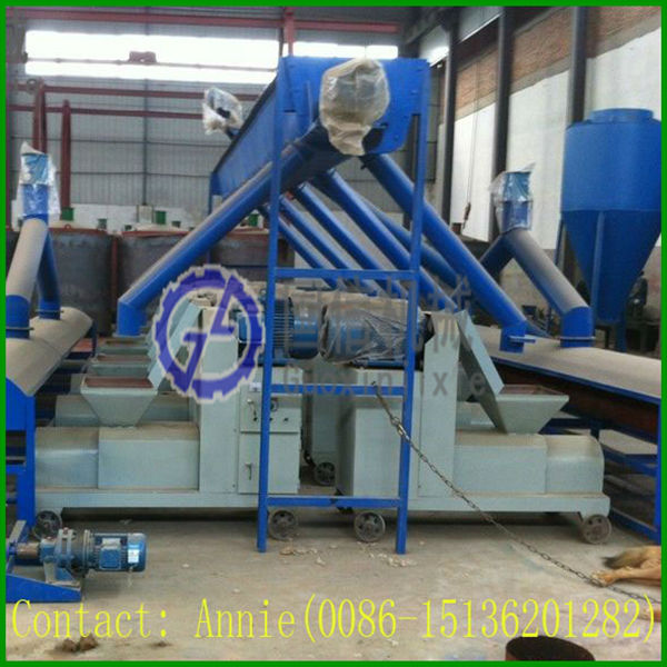 hexagon 50 and 80 mm diameter rice husk briquette machine