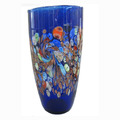 Colorful flower Murano glass vase