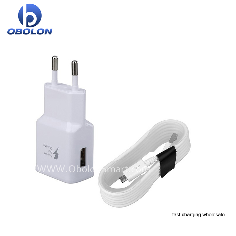 EU/US/AU Plug S8 Fast Wall Charger, Travel Adapter Type C Cable With Package For Samsung S8