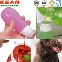 2015 OEM ODM Fluid Dog Food Container/Airline Carry-on Silicone Lotion/Salad Tube Squeezable Travel Fashional Fragrance Bottle