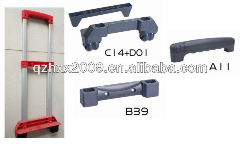 Trolly handle parts metal and plastic leisure luggage parts handle