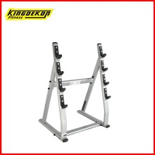Four pay barbells rack integrated gym trainer