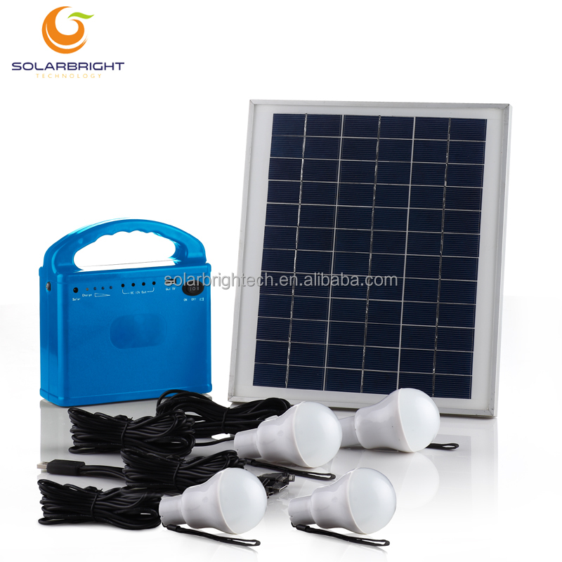 Portable mini solar energy the house solar lighting system solar system camping light kit