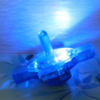 Plastic super peg-top toy, multi color led light