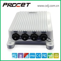 4 port PoE Input IP67 Power over Ethernet Outdoor PoE Switch