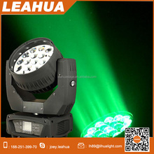 Indoor 19x15W led zoom moving head wash light