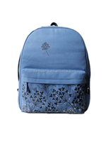Basic model 600D elegant school backpack for girl students