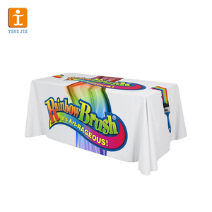 Tongjie TY custom trade show full color dye sublimation print table cloth and table throw