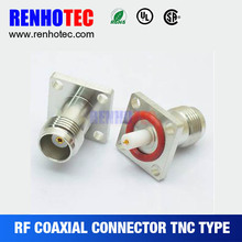 RF TNC Jack 4 Hole Flange Pcb Connector Male Female