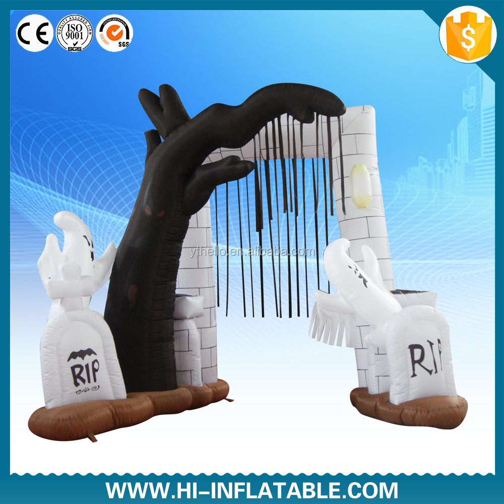 Newest Halloween arch inflatable, Inflatable Halloween product/Holloween inflatable tomb