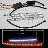 Universal S8 led flexible drl daytime running light for all cars