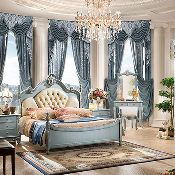Most Popular Antique Luxury King Size Wood Bedroom