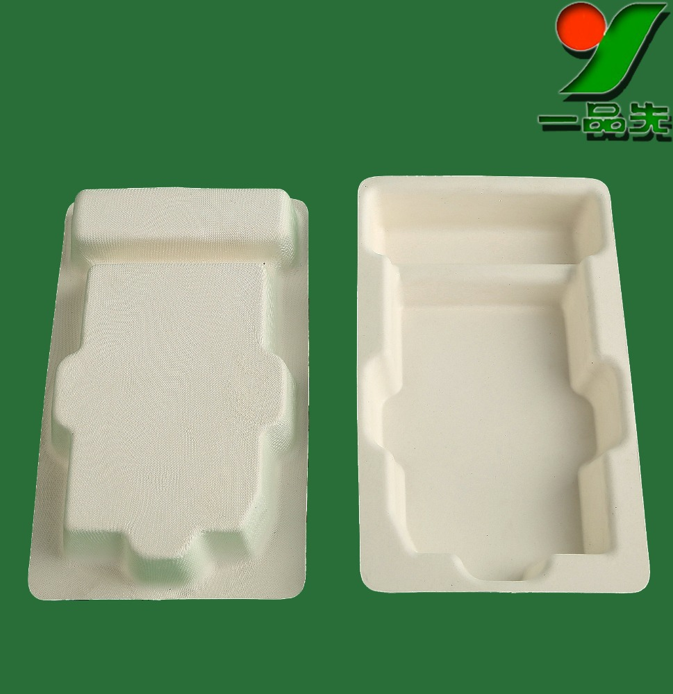 Biodegradable Custom Recycled Virgin pulp Plant Fiber insert tray for Soap ,Smooth recycled cardboard packaging boxes wholesale