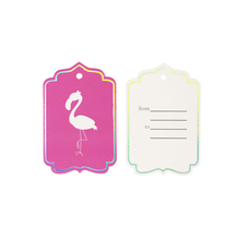 Flamingo party paper tag Bookmarks Fancy Frame Gift Tag Wedding Favor Bonbonniere Favor Thank You Gift Tags