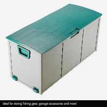 Plastic Weatherproof Lockable Shed Garden Outdoor Storage Box, plastic tool box