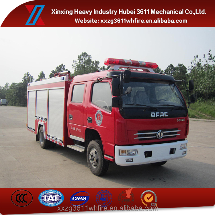 Best Quality Euro4 Dongfeng Fire Truck With Water And Foam Tank