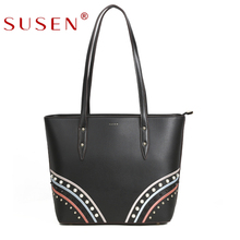 Guangzhou Supplier Latest Design Multi-Color Ladies Pu Leather Handbag
