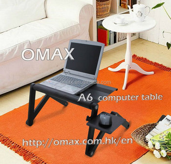 cheap laptop desk adjustable height massage table computer stand OMAX K6